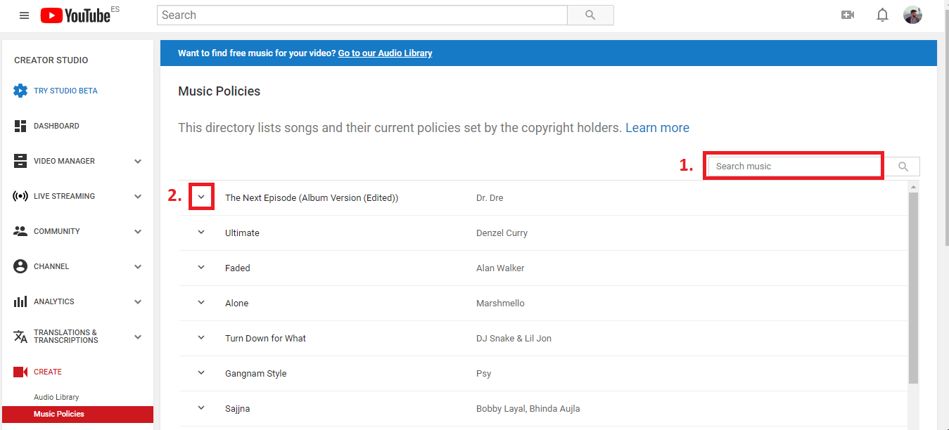 how to know if a song is copyrighted
