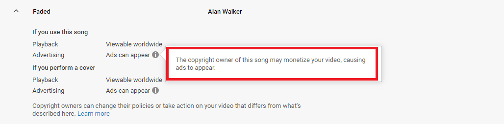 how to see if a song is copyrighted on youtube