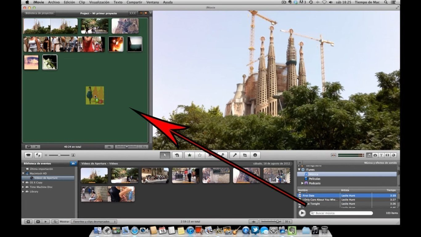 como poner musica en imovie apple