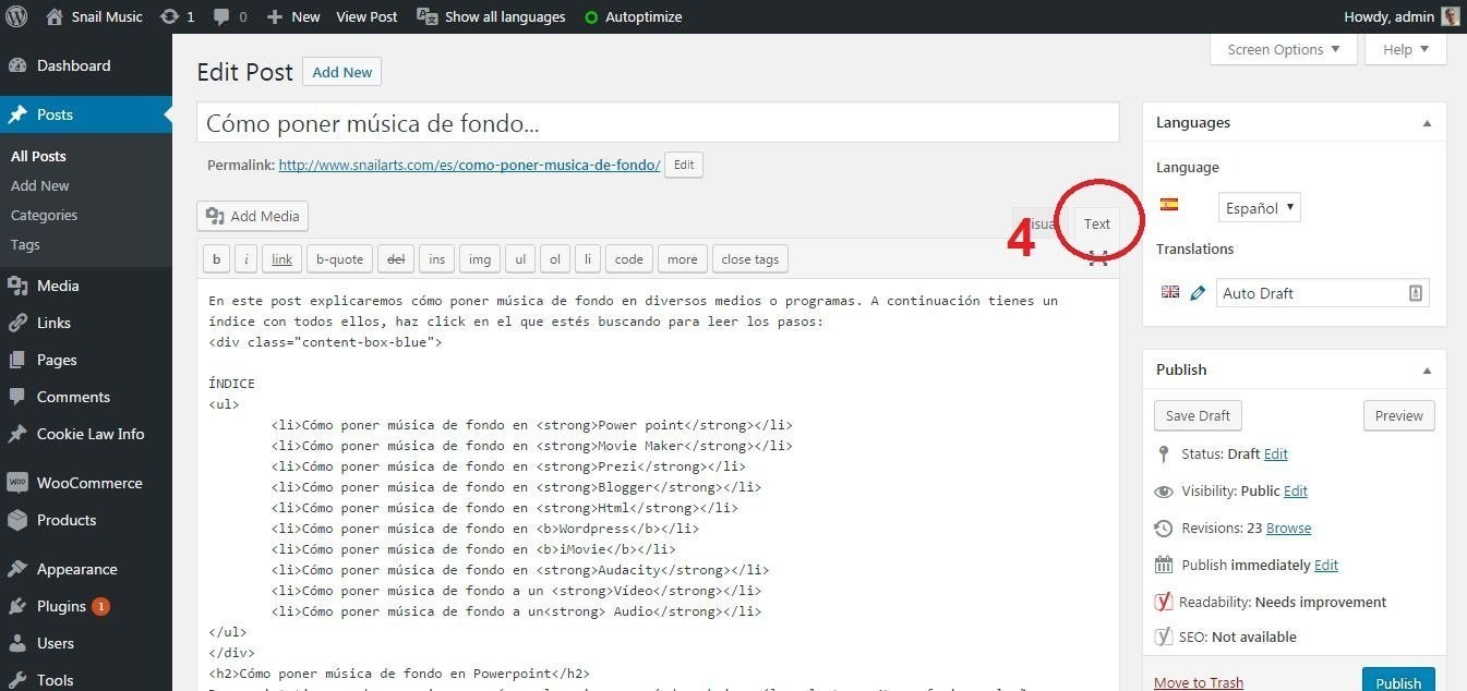 musica de fondo wordpress html